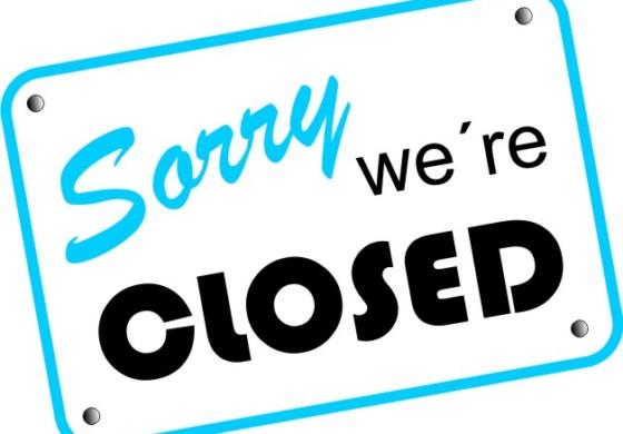 Am kommenden Wochenende geschlossen