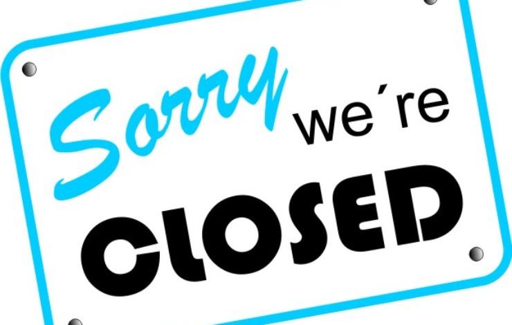 Am Samstag geschlossen